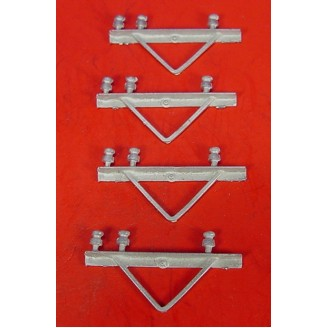 O SCALE POWER POLE 3 WIRE ANGLE IRON STYLE CROSS ARMS