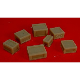O SCALE RESIN CAST WOOD CRATE ASSORTMENT