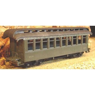 On3/On30 SHORTY COACH PASSENGER CAR KIT