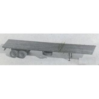 HO 1/87 40' FLAT BED SEMI TRAILER KIT