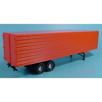 O SCALE 1/48 40' SEMI VAN TRAILER OR REFRIGERATED TRAILER KIT