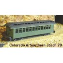 On/On30 COLORADO & SOUTHERN COACH #70 KIT