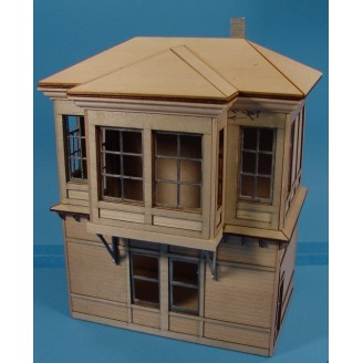 PRR PENNSYLVANIA INTERLOCKING TOWER LASER CUT STRUCTURE KIT