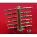 """O/On3/On30 10"""" BALL END HANDRAIL STANCHIONS"""
