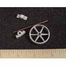 """O/On3/On30 30"""" PULLEY WITH BEARINGS"""