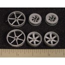 O/On3/On30 SHOP OR MACHINERY 6 PULLEYS ASSORTMENT
