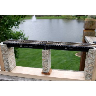MULTI SCALE HEAVY DUTY BRIDGE WITH ABUTMENTS AND CENTER PIER