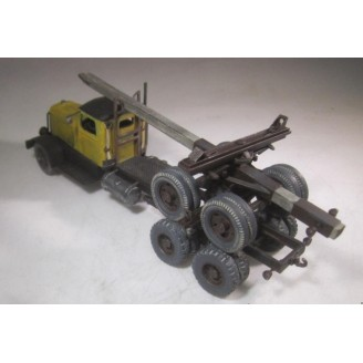 O SCALE 1940's-1950's EARLY VERSION LOG TRUCK CONVERSION KIT FITS REVELL HONEST JOHN MISSILE CARRIER KENWORTH