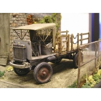 O SCALE 1/48 NASH QUAD STAKE BED TRUCK KIT WITH RAG TOP CAB
