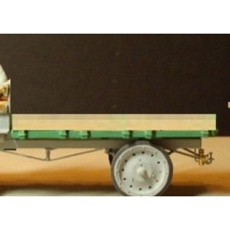 O SCALE 1/48 TRUCK FLAT BED KIT FOR NASH QUAD AND OTHERS