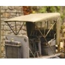 O SCALE 1/48 RAG TOP CAB KIT FOR NASH QUAD AND OTHERS