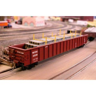 N SCALE 65' GUNDERSON GONDOLA KIT WITH WCRC DECALS