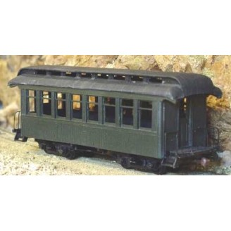 Sn3 REALLY SHORT OPEN PLATFORM COACH PASSENGER CAR KIT