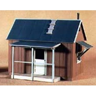 S SCALE OR Sn3 SMALL SHACK #2 1960 W.S.L. CO. BRIDGE TENDERS SHACK KIT