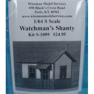 S SCALE OR Sn3 SMALL YARD WATCHMAN'S SHANTY KIT