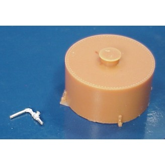 O SCALE CLIMAX STYLE ROUND WATER TANK