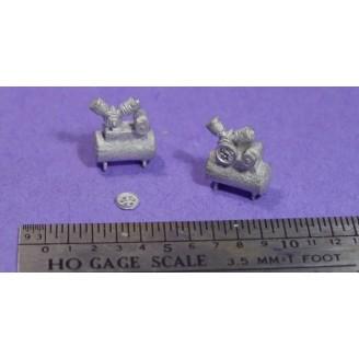 HO/HOn3 DETAIL PARTS: 2 SMALL SHOP AIR COMPRESSORS