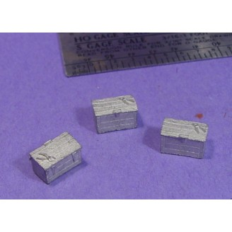 S SCALE / Sn3 DETAIL PARTS : SMALL WOOD BOX WITH PLIERS