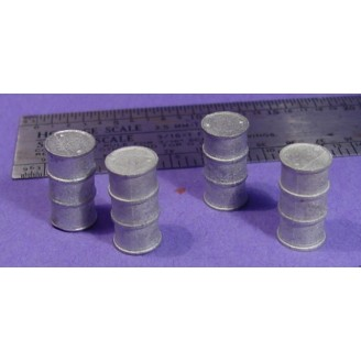 S SCALE / Sn3 DETAIL PARTS : TALL METAL DRUMS