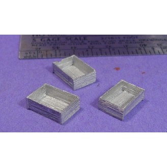 S SCALE / Sn3 DETAIL PARTS : OPEN CRATES