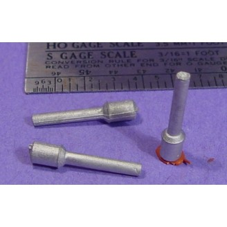 S SCALE / Sn3 DETAIL PARTS : ROOF MOUNT SMOKE STACKS