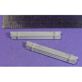 S SCALE / Sn3 DETAIL PARTS : PIPE BUNDLES TYPE C