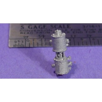 S SCALE / Sn3 DETAIL PARTS : LOCOMOTIVE SINGLE PHASE AIR PUMP
