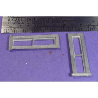S SCALE / Sn3 DETAIL PARTS : TALL NARROW WINDOWS
