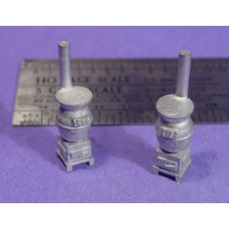 S SCALE / Sn3 DETAIL PARTS : POT BELLY STOVES