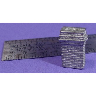 "S SCALE / Sn3 DETAIL PARTS : RECTANGULAR CHIMNEY 16"" X 30"" BASE"