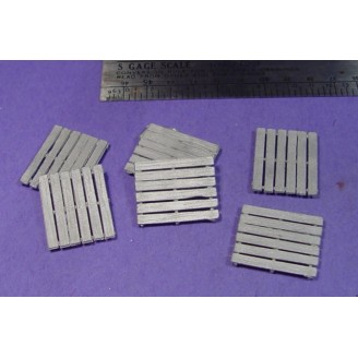 S SCALE / Sn3 DETAIL PARTS : LARGE WOOD SHIPPING PALLETS