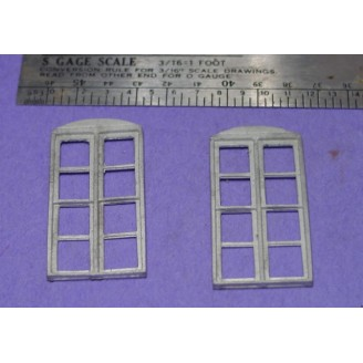 S SCALE / Sn3 DETAIL PARTS : 8 PANE DOUBLE HUNG WINDOWS GUNNISON STATION STYLE
