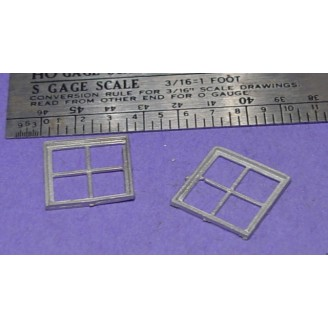 S SCALE / Sn3 DETAIL PARTS :4 PANE MASONRY WINDOWS