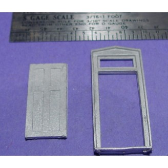 S SCALE / Sn3 DETAIL PART : D&RGW STATION DOOR