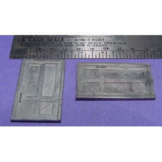 S SCALE / Sn3 DETAIL PARTS : BUILDING DOORS