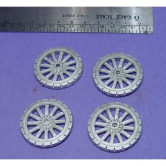 O SCALE On3/On30 TRUCK OR WAGON SPOKED WHEELS