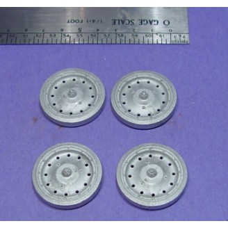 O SCALE On3/On30 SOLID TIRE TRUCK WHEELS