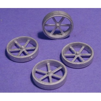O SCALE TRACTOR OR WAGON WHEELS WITH FLAT RUBBER TIRES