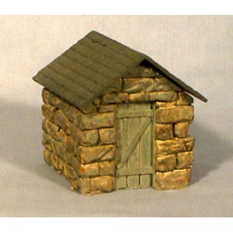 HO SCALE HOn3 STONE DYNAMITE STORAGE SHED KIT