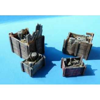 O/On3/On30 JUNK FILLED CRATES ASSORTMENT