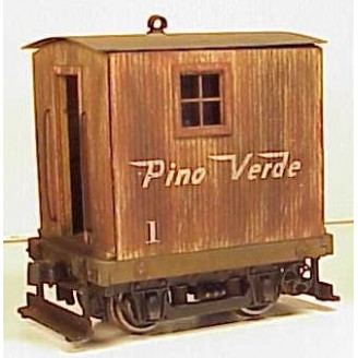 On3 / On30 4 WHEEL VERTICAL SIDING LOGGING CABOOSE KIT DELUXE VERSION WITH TRUCK