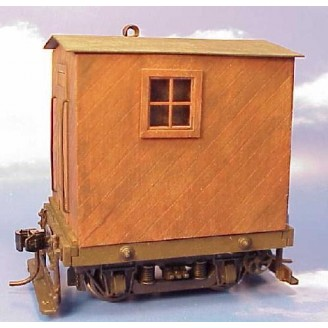On3 / On30 4 WHEEL DIAGONAL SIDING LOGGING CABOOSE KIT DELUXE VERSION WITH TRUCK